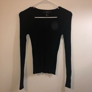 Forever 21 V neck knit long sleeve shirt